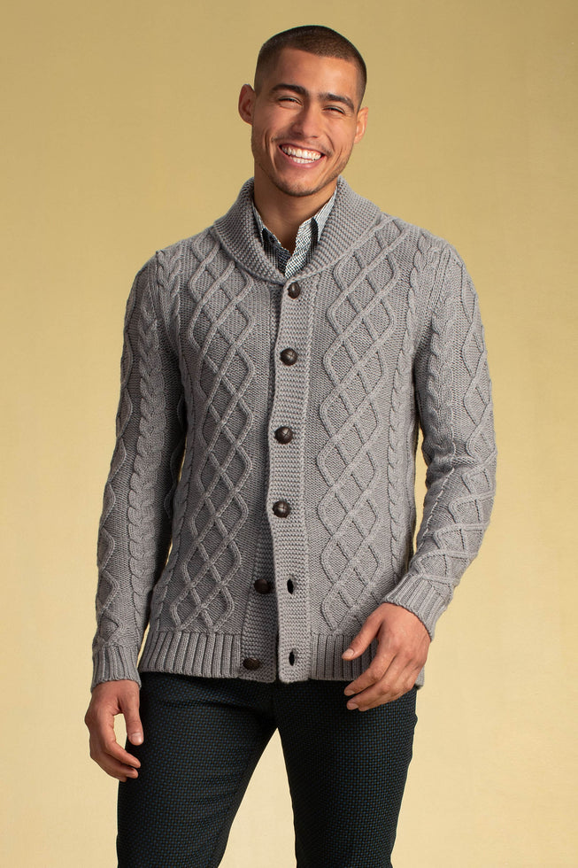 LOWEN CHUNKY CABLE CARDIGAN