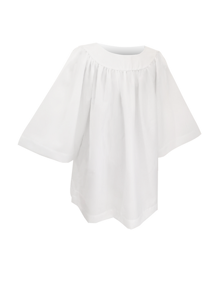 Classic Round Neckline Choir Surplice - Church Choirs