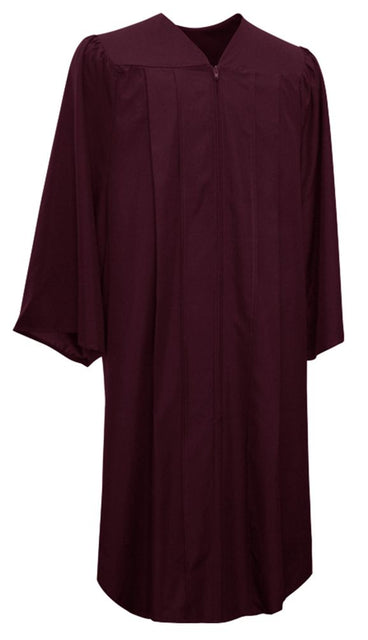 Matte Maroon Choir Robe - Church Choirs