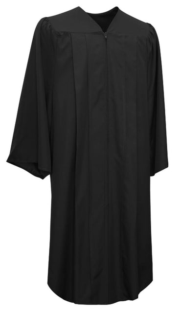 Matte Black Choir Robe - Church Choirs