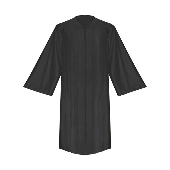 Shiny Black Choir Robe - Church Choirs
