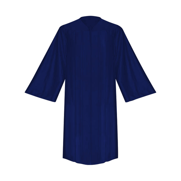 Shiny Navy Blue Choir Robe - Church Choirs