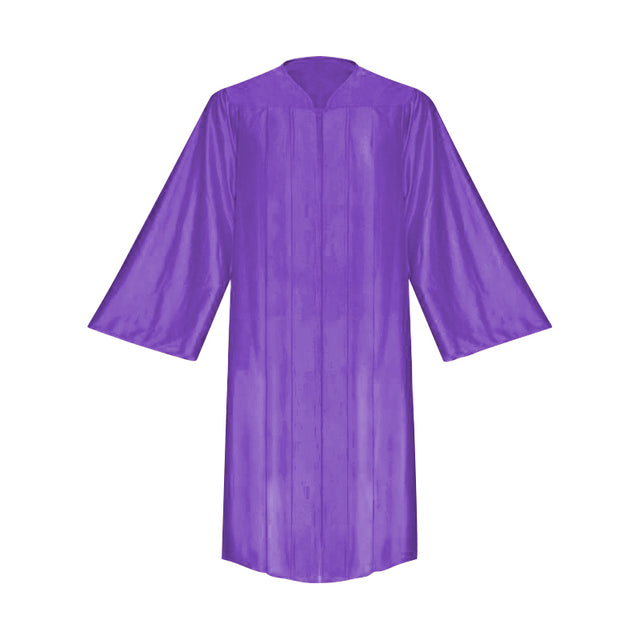 Shiny Purple Choir Robe - Church Choirs