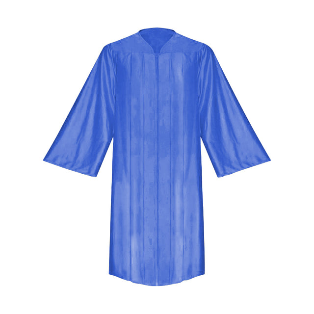 Shiny Royal Blue Choir Robe - Church Choirs