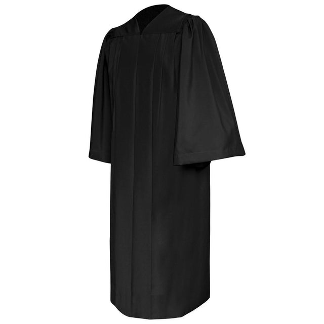 Deluxe Black Choir Robe - Church Choirs