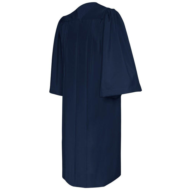 Deluxe Navy Blue Choir Robe - Church Choirs