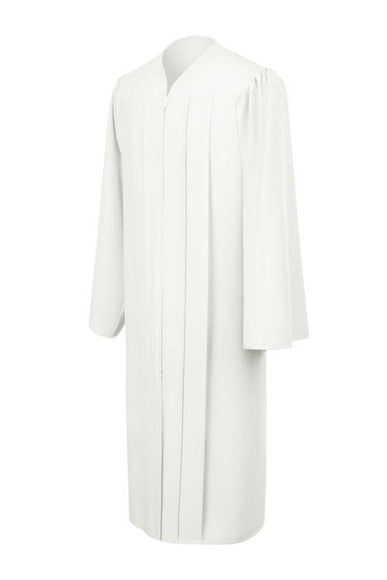 Matte White Choir Robe - Church Choirs