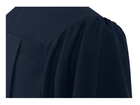 Matte Navy Blue Choir Robe - Church Choirs