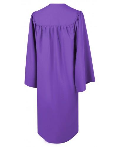 Matte Purple Choir Robe - Church Choirs