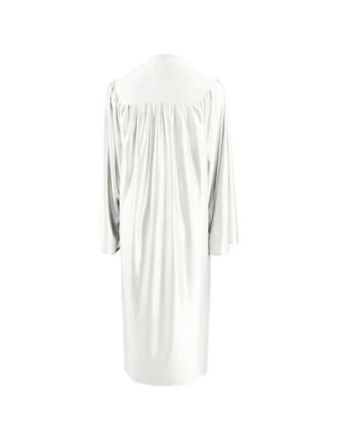 Shiny White Choir Robe - Church Choirs