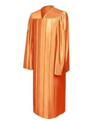 Shiny Orange Choir Robe - Church Choirs