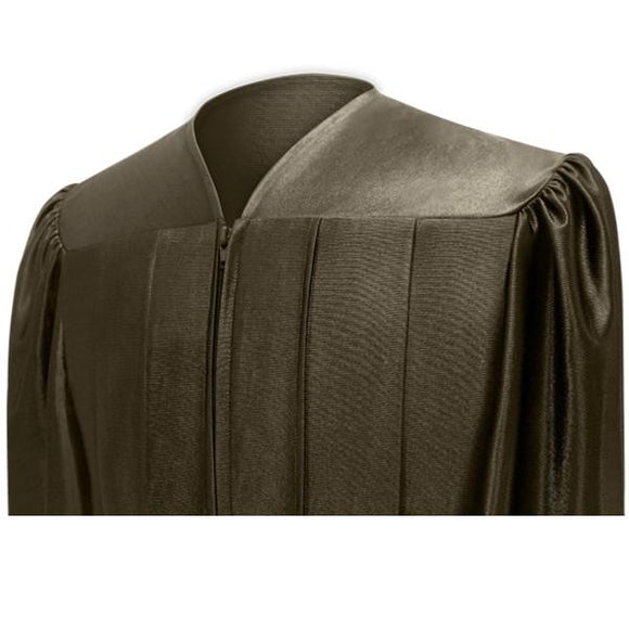 Shiny Brown Choir Robe - Church Choirs