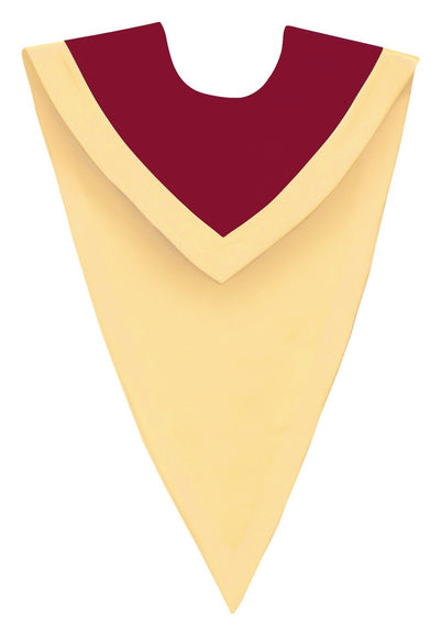 Maroon/Gold V-Neck Choir Stole - Church Choirs