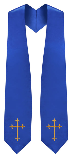 Royal Blue Traditional Choir Stole - Church Choirs