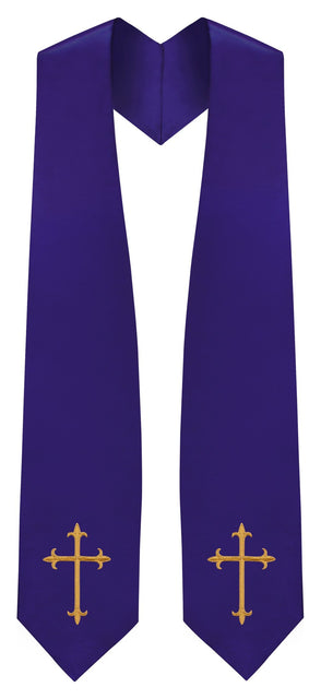 Purple Traditional Choir Stole - Church Choirs