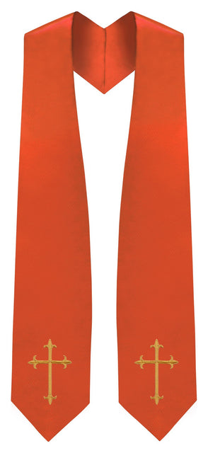 Orange Traditional Choir Stole - Church Choirs