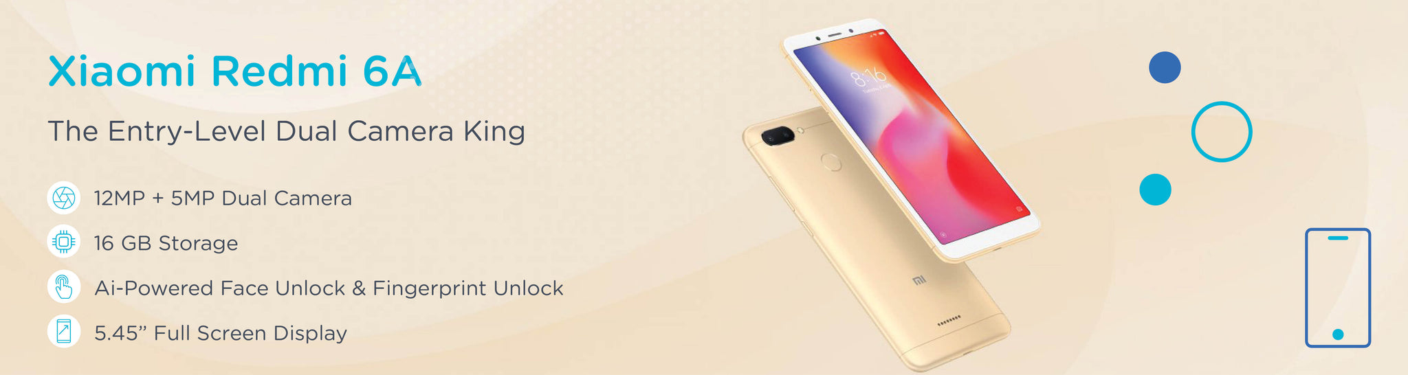 Xiaomi New Phones Tagged Model Redmi 6a Wireless 2 16gb Gold