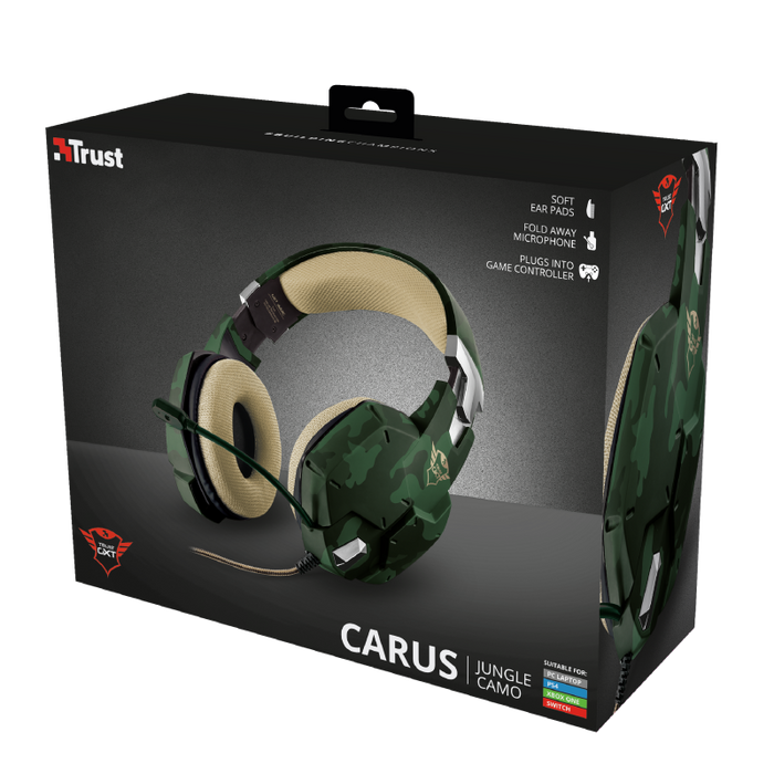 TRUST GXT 322C CARUS GAMING HEADSET - JUNGLE CAMO - wirelessphones