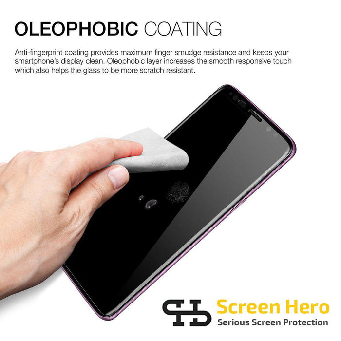 Samsung Galaxy S9 Plus Tempered Glass Screen Protector from Screen Hero - wirelessphones