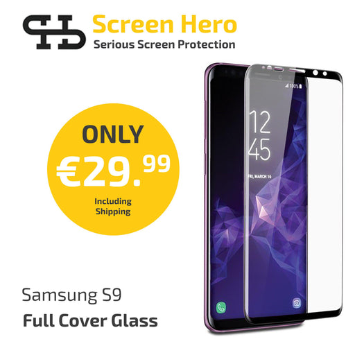 Samsung Galaxy S9 Tempered Glass Screen Protector from Screen Hero - wirelessphones