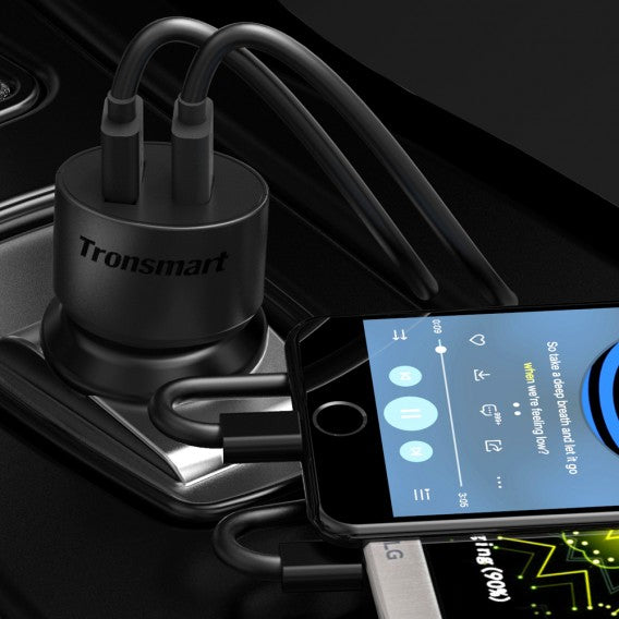 Tronsmart Fast charge 2 port Car Charger - wirelessphones
