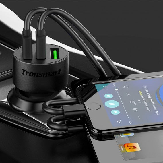 Tronsmart Quick Charge 3 Port Car Charger - wirelessphones