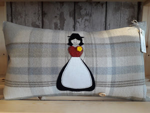 Welsh Collection Cushion STYLE 2 - Rectangle with Large Welsh Lady (5 Colours)