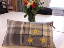 Load image into Gallery viewer, Personalised Welsh Collection Cushion STYLE 5 - Rectangle with Daffodils