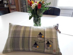 Personalised Welsh Collection Cushion STYLE 5 - Rectangle with Sheep