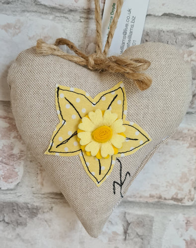 Welsh Collection Daffodil Heart
