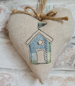 Beach Hut Heart - 5 Colours to Choose From