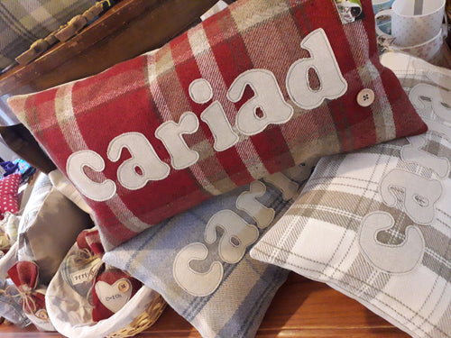 Cariad Cushion - 5 Colours to choose from