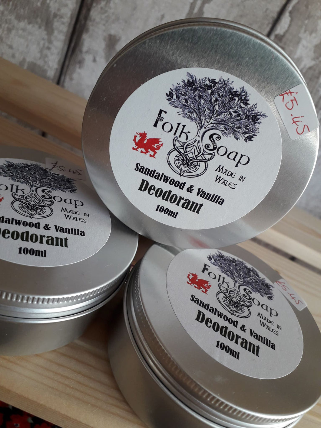 Handmade Deodorant in Tin by Folk Soap
