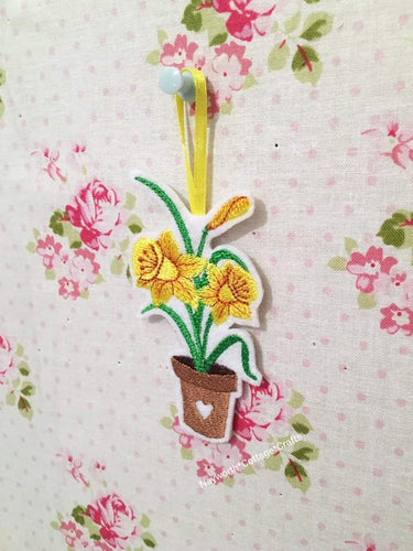 Embroidered Daffodil Decoration