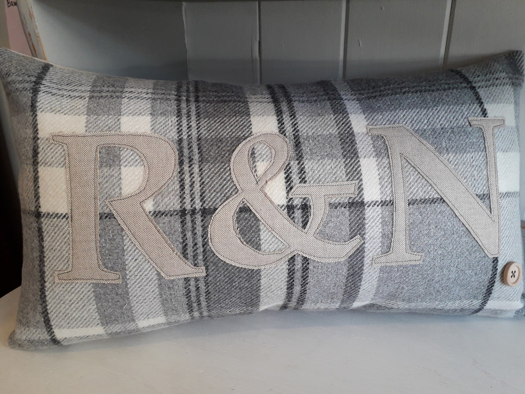 Special Initials Cushion - 5 Colours to choose from