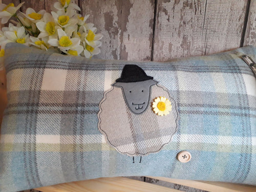 Rectangle Cushion with Large Welsh Sheep