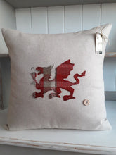 Load image into Gallery viewer, Welsh Collection Cushion - Square with Large Welsh Dragon
