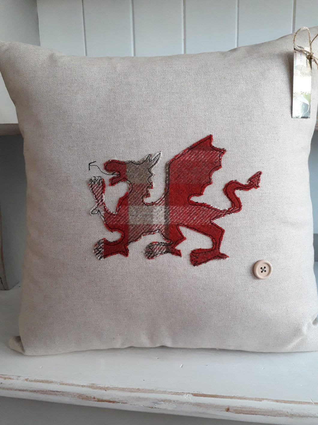 Welsh Collection Cushion - Square with Large Welsh Dragon