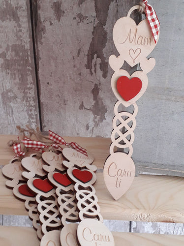 Mam / Mamgu Wooden Lovespoon Decorations