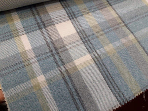 Blue Wool Touch Fabric
