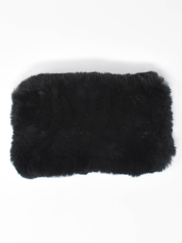 Onyx Black Fur Headband