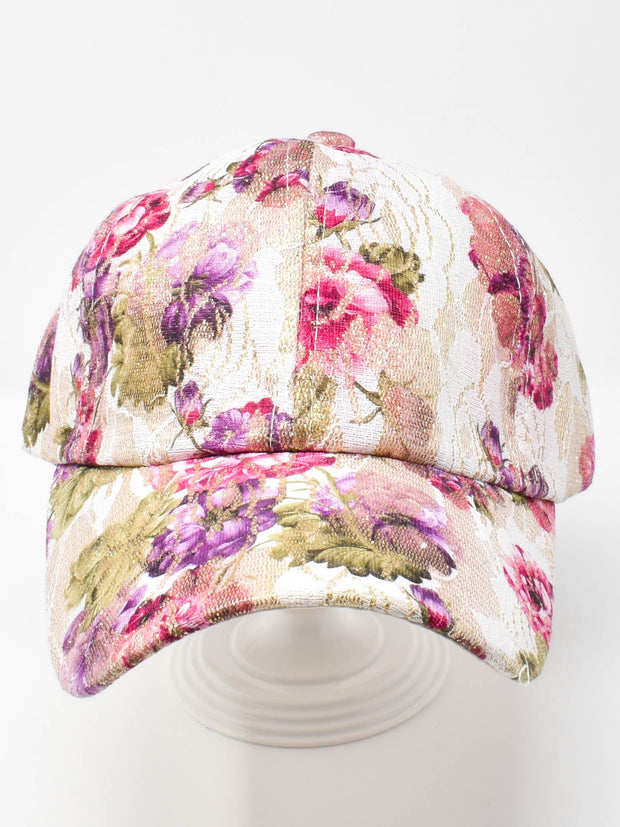 Violets and Roses Cap