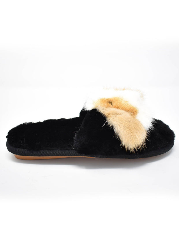 Fur Gold Eared Puppy Slippers