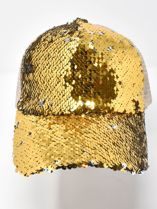 Knox Gold Sequin Cap