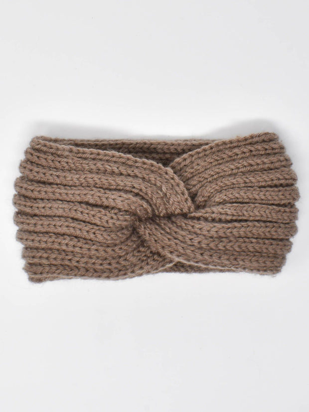 Brown Knitted Headband