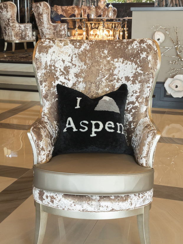 I Love Aspen Hand-Crafted Pillow