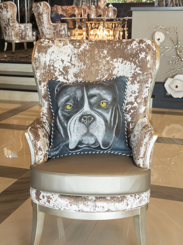 Pit-Bull Leather Hand-Crafted Pillow