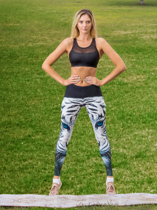 Blue Eyed Tiger Leggings