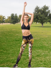 Green Eyed Lion Leggings