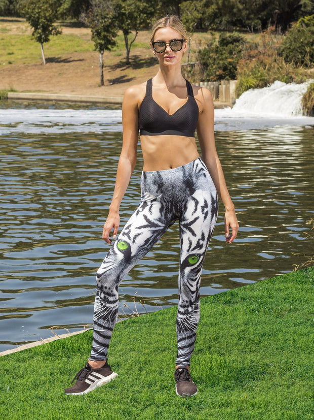 Green Eyed Tiger Leggings